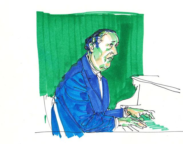 Groene pianist