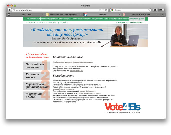 Vote4Els, Contact Russisch